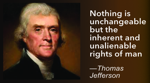 Jefferson Quotation - Unalienable Rights